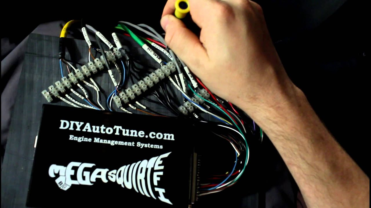Evans Megasquirt Build Ep 16 Inside The Car Wiring Youtube Wire Harness Pinout