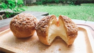 CRUNCHY CHOUX CREAM (Cream Puffs) : SIMPLE, EASY, DELICIOUS