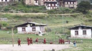 Scenes of village life, Laya, Bhutan