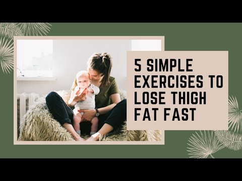 5 Simple Exercises to Lose Thigh Fat fast at home Quick Workout