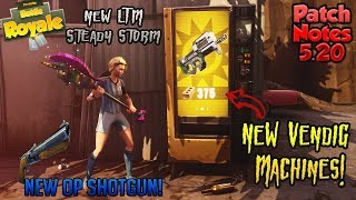 New Double Barrel Shotgun!! Steady Storms NEW LTM!! Vending Machine Buff Fortnite Patch 5.20