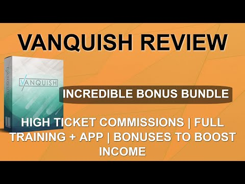 Vanquish Review | 😲 Shocking Bonuses 😲 | Easy Traffic to Big Commissions thumbnail