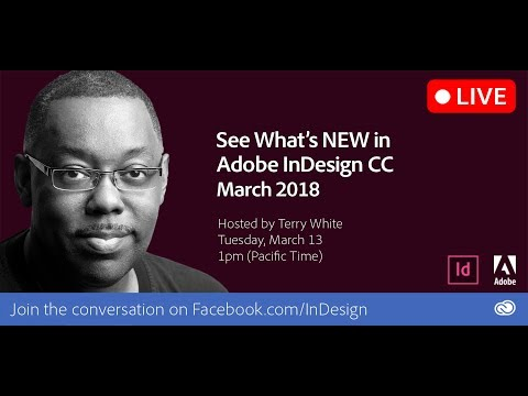 What's NEW in the March 2018 Update to Adobe InDesign CC