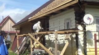 видео Утепление деревянного дома пенополиуретаном