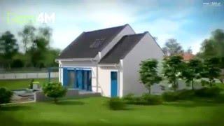 4M200 Проект небольшого дома с гаражом 110м2