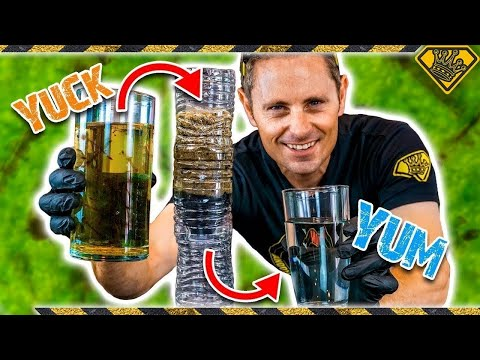 DIY: Make Swamp Water Drinkable! King Of Random Dives Into How To Make A Homemade DIY Water Filter
