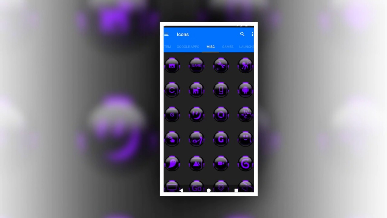 Purple Icon Pack Style 6 Free for Mobile and Tablet Devices