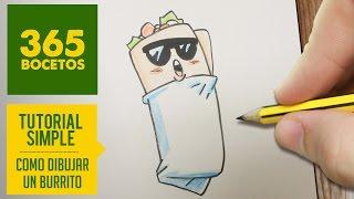 COMO DIBUJAR UN BURRITO KAWAII PASO A PASO - Dibujos kawaii faciles - How to draw a burrito