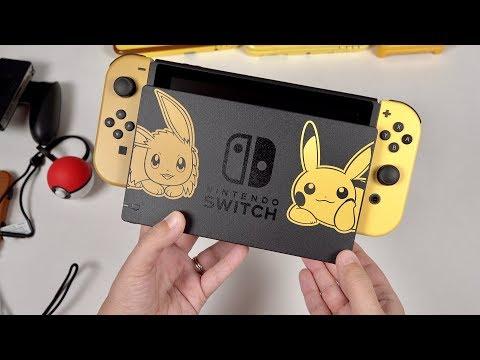 Pikachu & Eevee Edition BUNDLE: Nintendo Switch Unboxing!