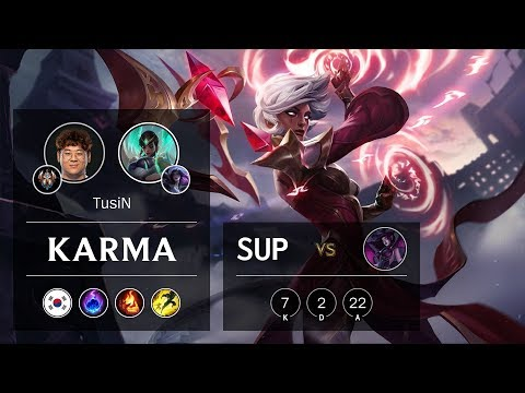 Karma Support vs Morgana - KR Challenger Patch 10.2