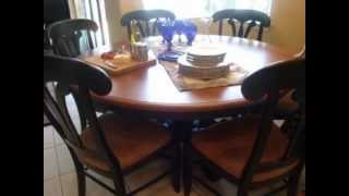 Dutchcrafters Sonoma Cherry Wood Table And Cherry Manor Chairs