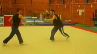 capoeira Fight with style combat fight accro saltot sport de combat