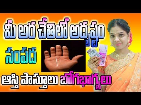 Money rekha | మీ అరచేతిలో ధన రేఖ అదృష్టము | Palmistry in telugu  | Palmistry reading | luck  line