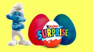 Opening surprise Eggs Smurfs Kinder Toys