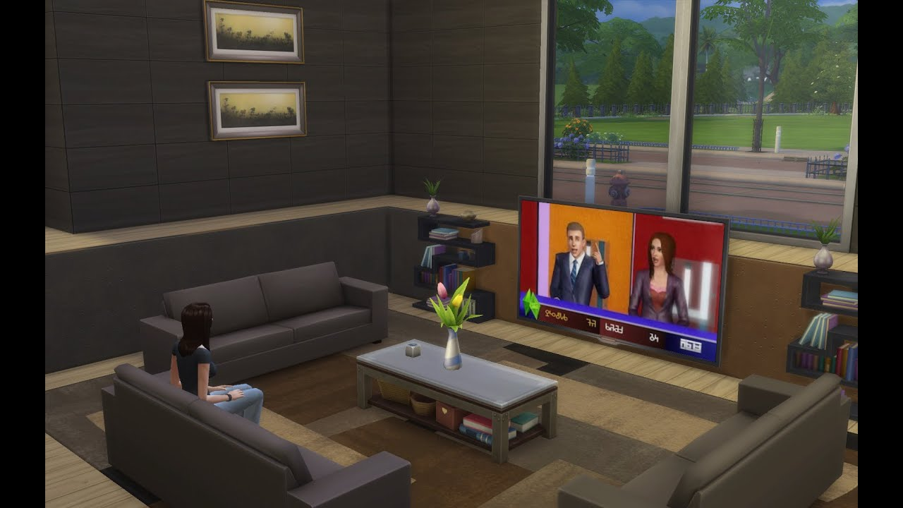 sims 4 haus bauen let 39 s build haus 004 einfamilienhaus mit stylischem wohnbereich. Black Bedroom Furniture Sets. Home Design Ideas