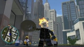 LEGO Marvel Super Heroes - Unlocking Ghost Rider + Free Roam Gameplay