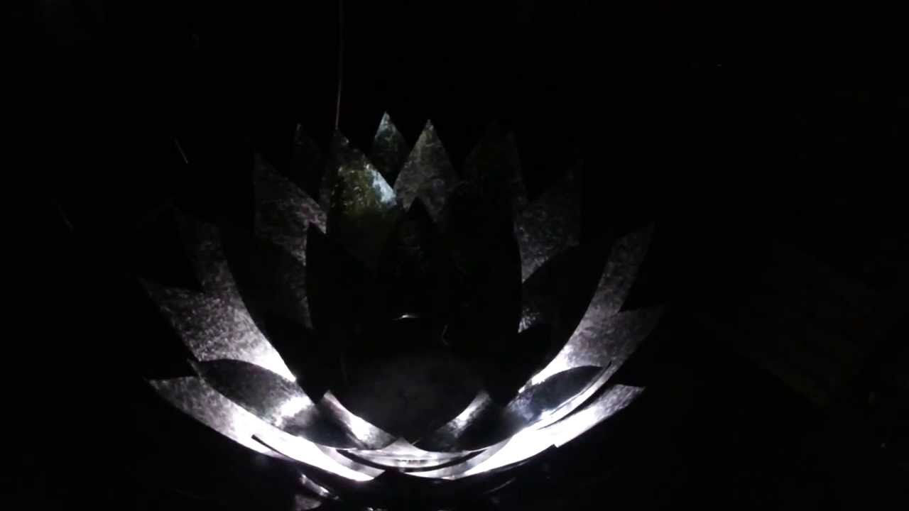 Led Lighted Lotus Flower Fire Pit Youtube