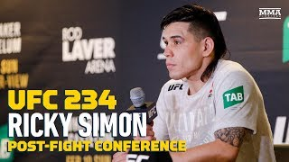 UFC 234: Ricky Simon Post-Fight Press Conference - MMA Fighting