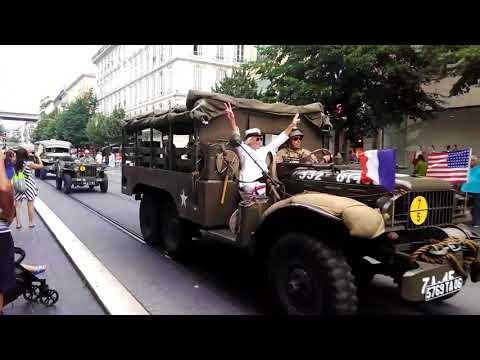 видео: Парад Американской военной техники в Ницце. Смотреть до конца.