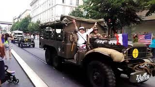 Парад Американской военной техники в Ницце. Смотреть до конца.