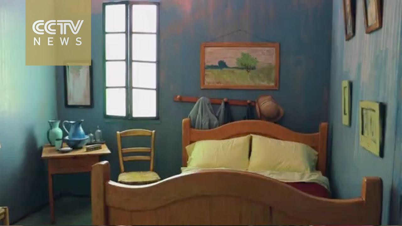Van Gogh Bedroom Recreated For Airbnb Rental Youtube