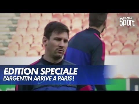Lionel Messi arrive à Paris !