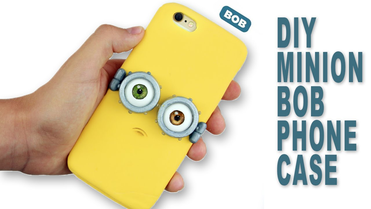 official photos 3784f 6afed DIY | Minion Bob Phone Case Tutorial - Polymer Clay How-to