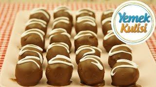 Yulaflı Bisküvili çikolata topları