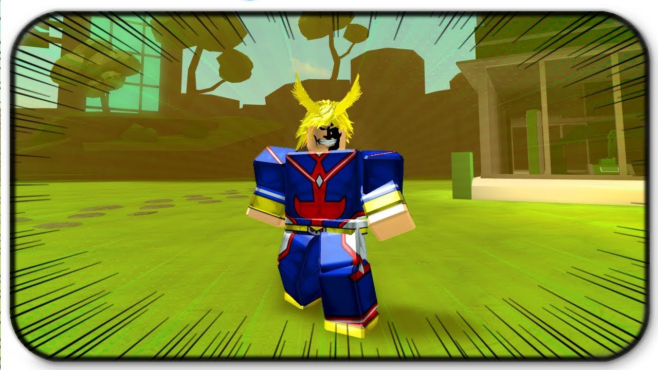 Becoming All Might From My Hero Acadamia - Roblox Anime Tycoon