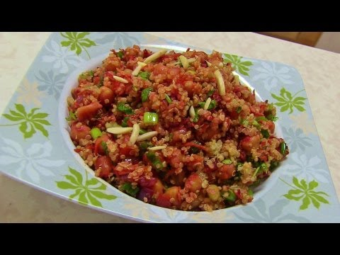 Quinoa Salad - Video Recipe by Bhavna - Protein Rich Meal!