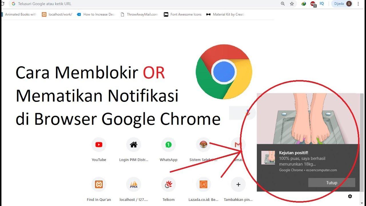 Cara Memblokir Atau Mematikan Notifikasi Di Browser Google Chrome Youtube