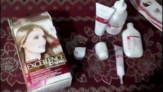 Покраска волос краской Лореаль экселленс 8.1  (экселанс )