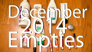 December 2014 Empties Thumbnail