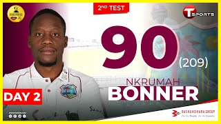 Bonner's Innings Highlights | Day 2 | 2nd Test Match | West Indies Tour Of Bangladesh | 2021