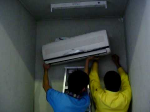 Installing Indoor Unit Of Split Type Air Conditioner Unit