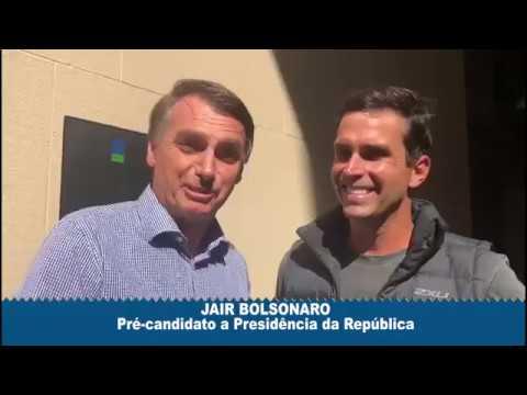 Luiz Lima e Jair Bolsonaro