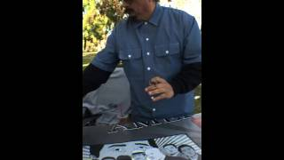 Actors Danny De La Paz & Daniel Villareal From The Movie American Me,Signing My Autographed Movie