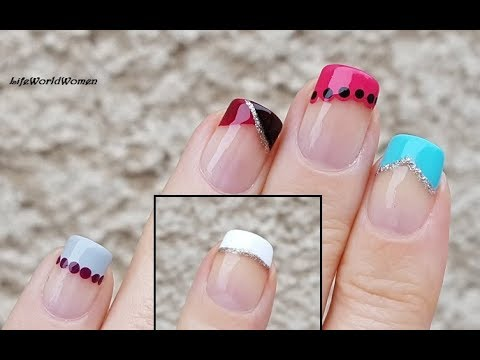 FIVE EASY FRENCH MANICURE NAIL DESIGNS