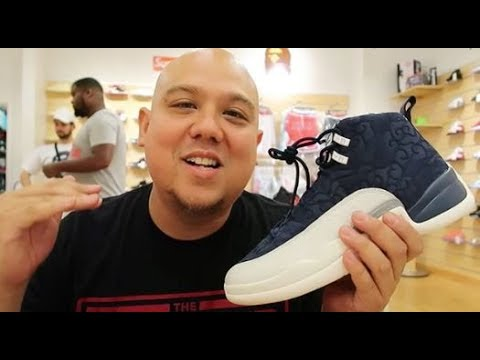 new arrival a8d85 2d01e AIR JORDAN 12 INTERNATIONAL FLIGHT RETRO SNEAKER REVIEW