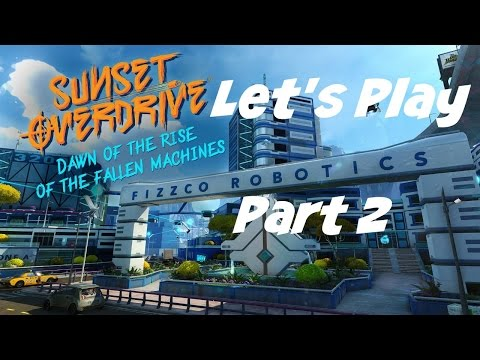 Let's Play: Sunset Overdrive: Fallen Machines DLC - Part 2 - No Commentary (Xbox One Gameplay)
