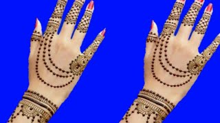 Latest OrnamentaJewellery Mehndi Design For Back Hand | Gol Tikki Mehndi Design || New Mehndi Design