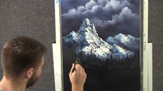 Paint with Kevin Hill - Mountain Waterfall wet on wet HD