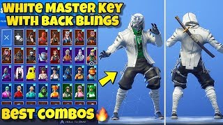 "NEW ""WHITE MASTER KEY"" SKIN Showcased With BACK BLINGS! Fortnite Battle Royale MASTER KEY EDIT STYLE"