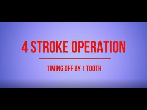 Incorrectly timed 4 stroke engine