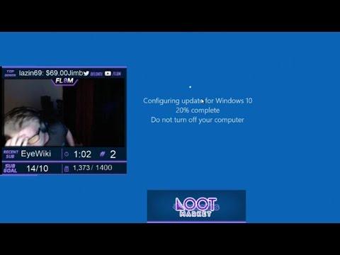 Pro Gamer Freaks Out When Windows 10 Update Kills His 9h Counter Strike Livestream (CS:GO) Fl0m