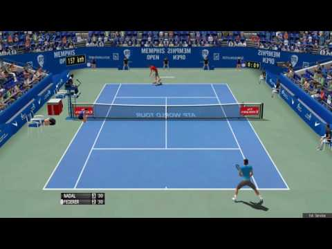 Nadal shows awesome volleying vs Federer -Tennis Elbow 2013 Gameplay