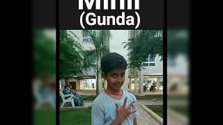 When a gunda attacks you