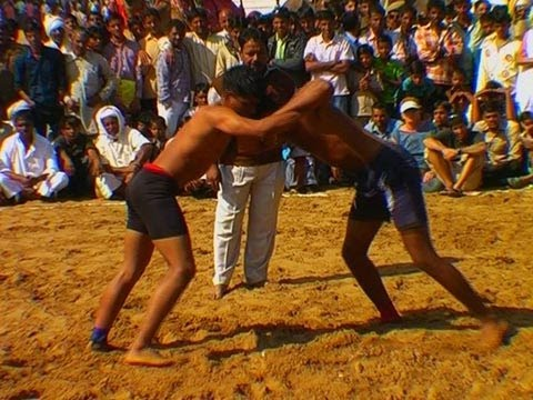Wrestling competition at Pushkar