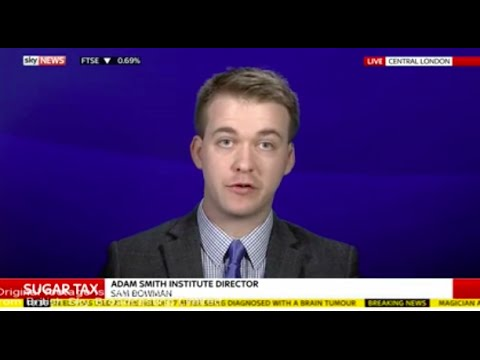 Sam Bowman debates the Sugar Tax on Sky News