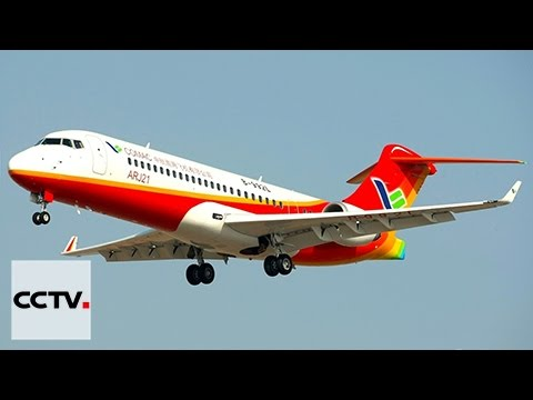 Made in China commercial jet ARJ-21 makes first flight